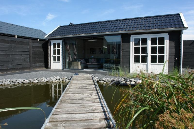 Nieuw Dubbel tuinhuis type Duvien 150x300+400x300AD+300x300   Blokhutten IG-76