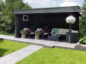 Blokhut modern plat dak